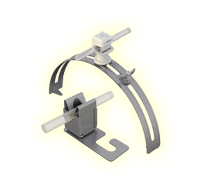 Air termination: roof wire holders